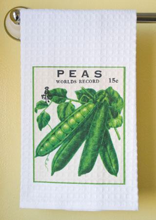 Peas Waffle Weave Towel