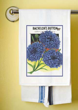 Bachelor Button Towel