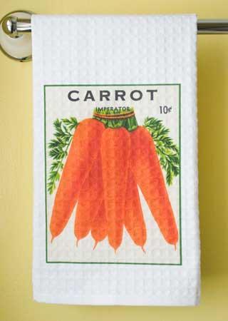 Carrot Waffle Weave Towel