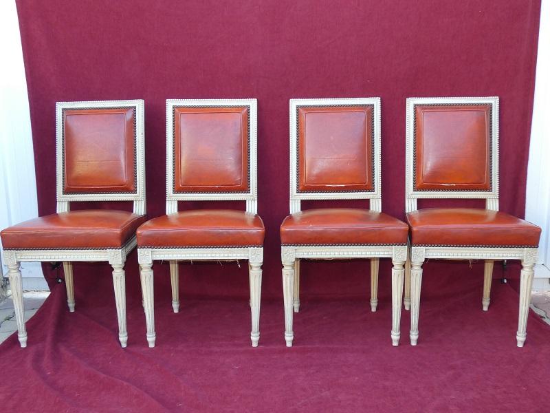 serie de 6 chaises style louis xiii