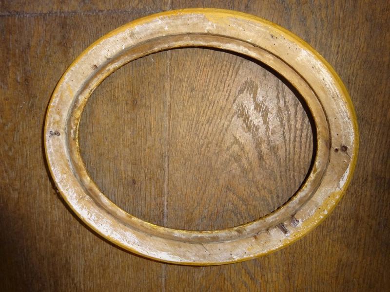 cadre ovale en bois dor louis xvi