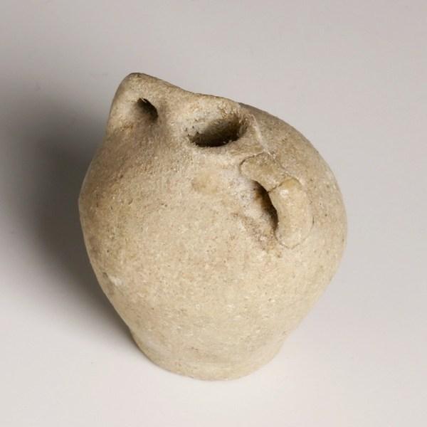 Provincial Egyptian Holy Land Miniature Stone Amphora