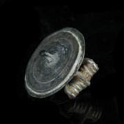 Roman Silver Tutulus Disc Brooch