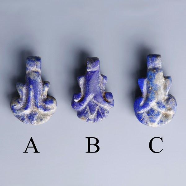 Egyptian Amarna Lapis Palmette Amulets