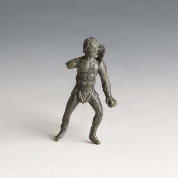Roman Bronze Retiarius Statuette