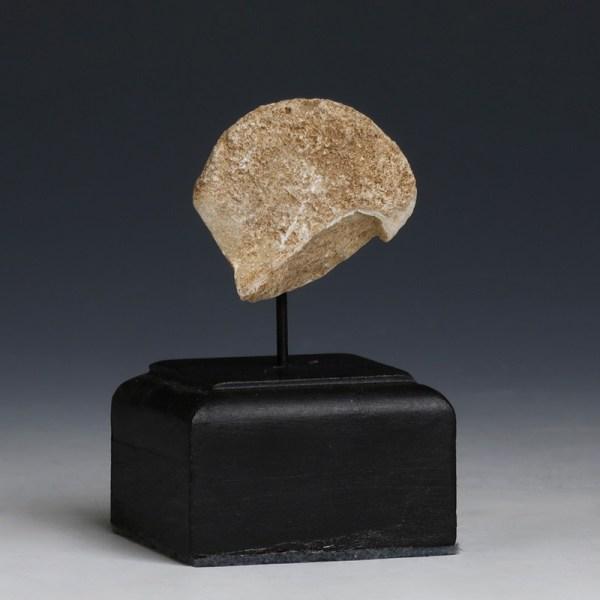 Chalcolithic Marble Stargazer Head