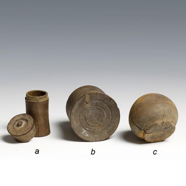 Egyptian Coptic Wood Kohl Vessels