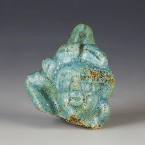 Egyptian Glazed Composition Head