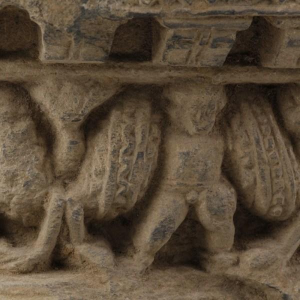 Gandharan Procession Scene with Garland Bearers