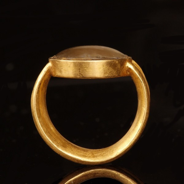 Greek Gold Ring with Turtle