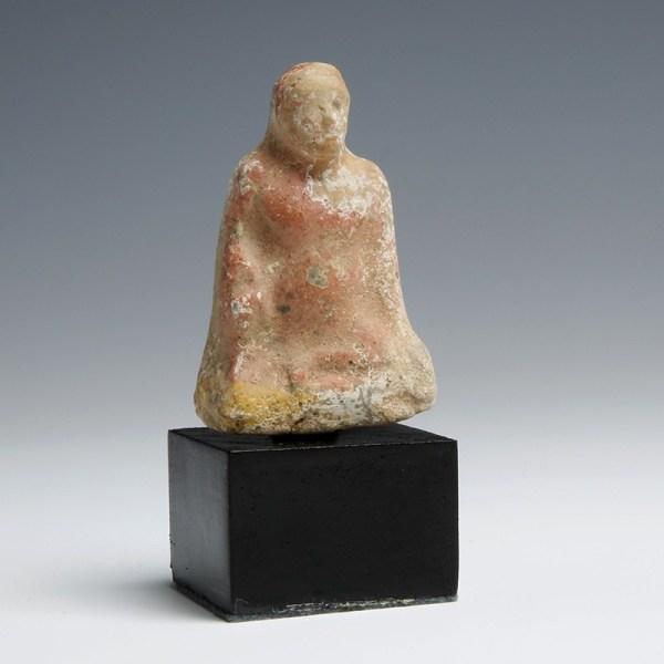 Greek Terracotta Figurine of a Boy Squatting