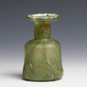 Vibrant Green Roman Cylindrical Glass