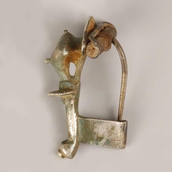 Roman Silver Gilded Trumpet Brooch