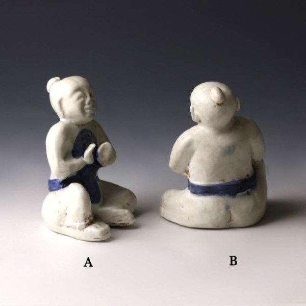 Blue And White Porcelain Figures