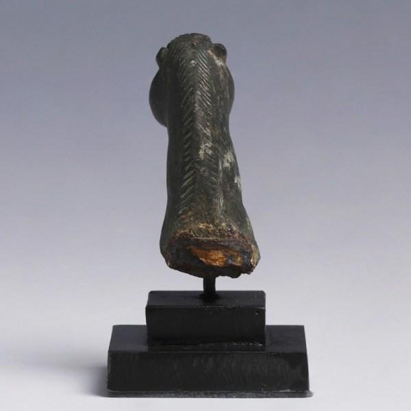 Roman Bronze Head of a Horse