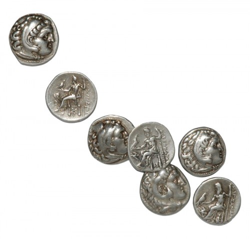 Alexander The Great Silver Drachms