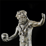 Roman Oil Lamp with Christ Monogram