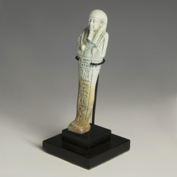 Blue Faience Egyptian Shabti