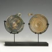 Pair of Bronze Age Spiral Pendants