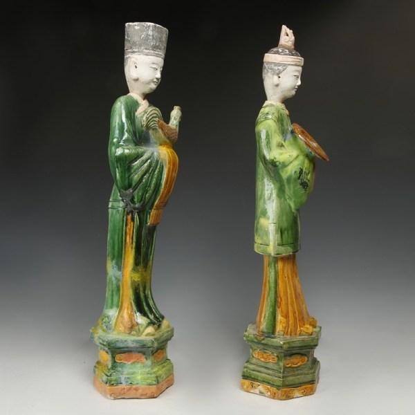 Chinese Ming Dynasty Large Sancai Glazed Offerants