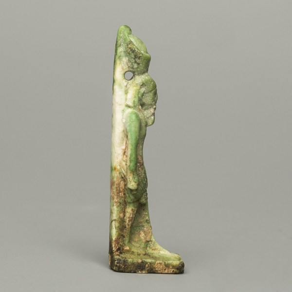 Egyptian Faience Pharaoh Amulet