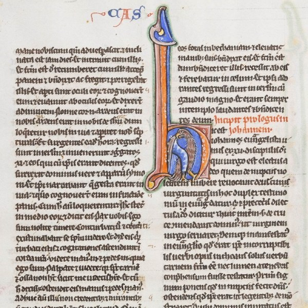 Illuminated Medieval Bible Page