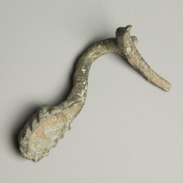 Roman Bronze Ewer Handle with Mask