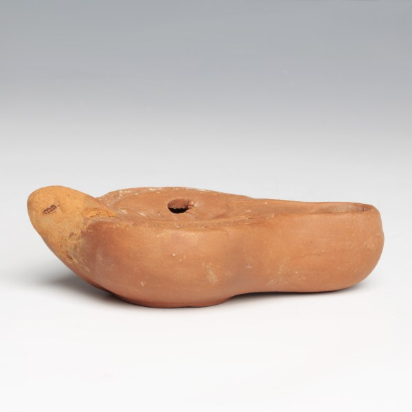 Miniature Roman North African Oil Lamp with a Dog