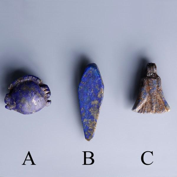 Egyptian Amulets in Lapis Lazuli