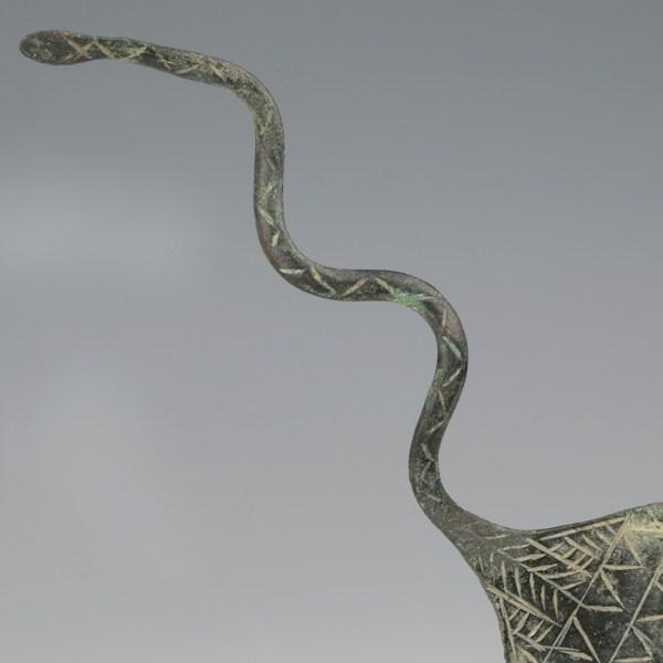 Luristan Bronze Decorated Spatula