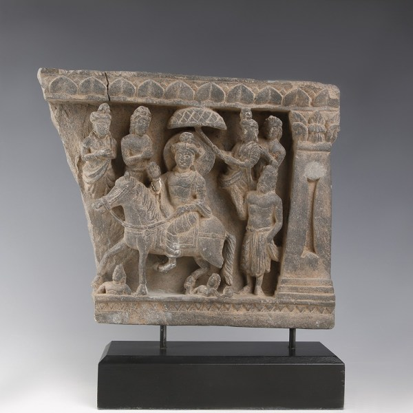 Gandhara Panel Relief With Buddha Great Departure