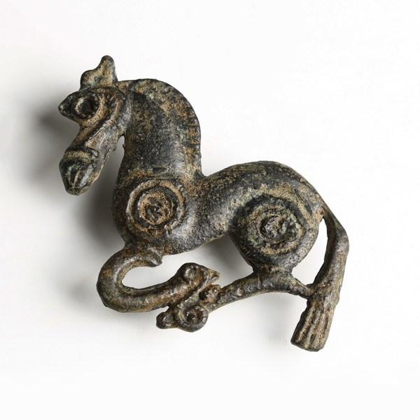 Ordos Bronze Horse Belt Plaque