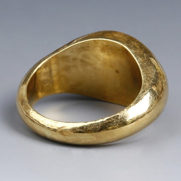 Roman Ring with Diana and Stag Intaglio