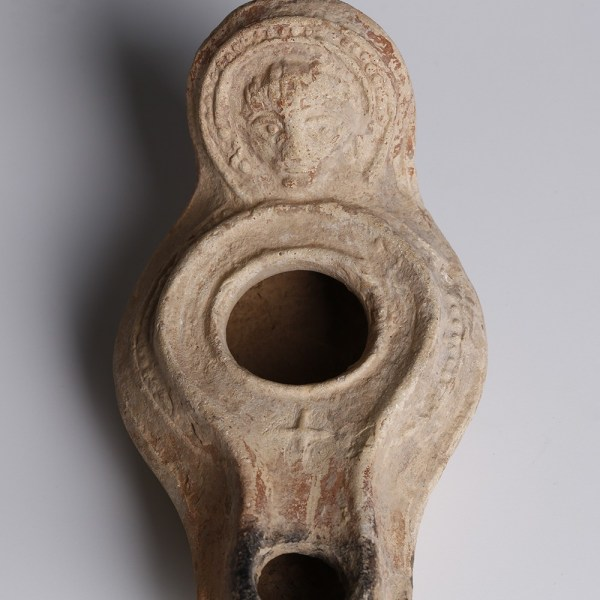 Byzantine Christian Oil Lamp
