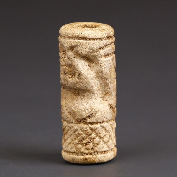 Near Eastern Cylinder Seal with Hunting Scene