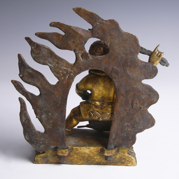 Tibetan Gilt Bronze Figurine of Acala