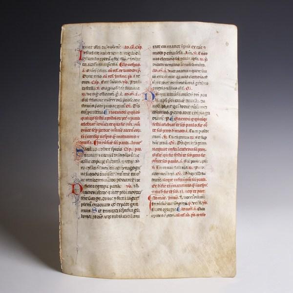 Illuminated Bible on Vellum