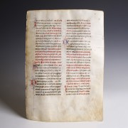 Illuminated Bible on Vellum