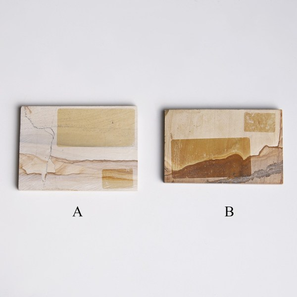 Two Small Landscape Stone Slabs