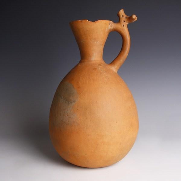 Iron Age Amlash Jar with Stylised Stag-Shaped Handle