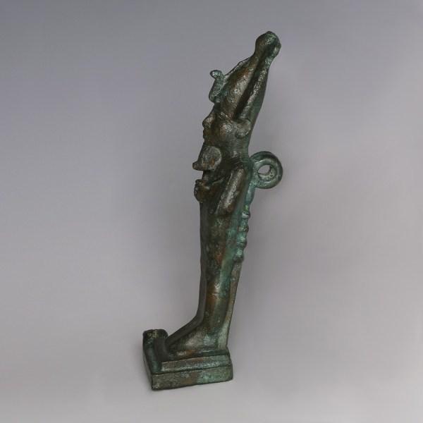 Egyptian Bronze Figure of Osiris