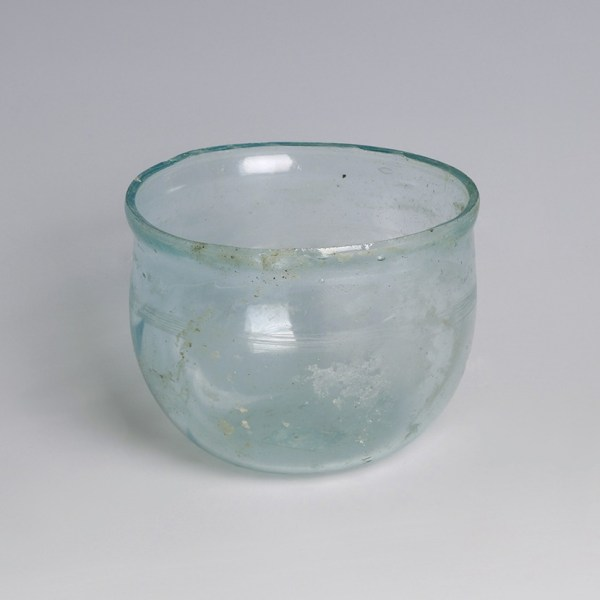 Roman Pale Blue Glass Cup