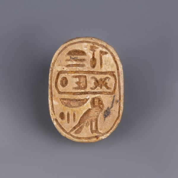 Steatite Scarab with Throne Name of Thutmosis III