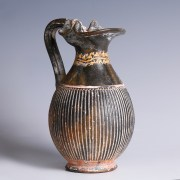 Ancient Greek Gnathian Ribbed Oinochoe