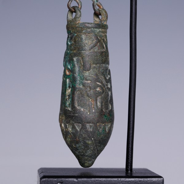 Egyptian Bronze Situla and Chain