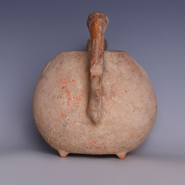 Amlash Beaked Tripod Vessel with Quadruped Handle