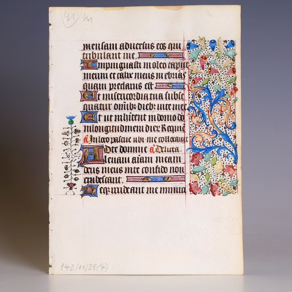 Book of Hours Ornately Decorated Leaf
