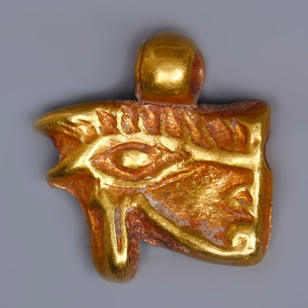 Egyptian Eye of Horus Gold Amulet