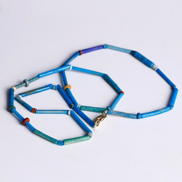 Egyptian Necklace with Turquoise Faience Beads