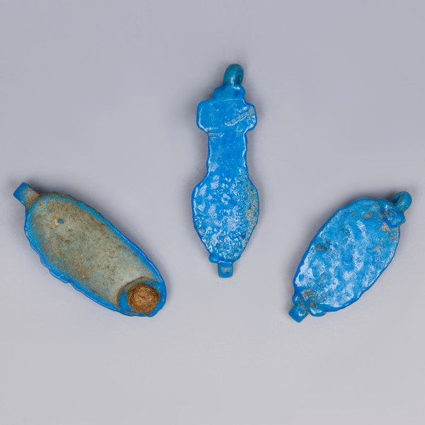 Egyptian Turquoise Faience Flower Amulets